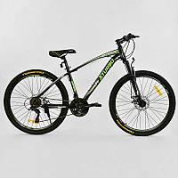 Велосипед Спортивный Corso X-Turbo BLACK-GREEN 1 рама металлическая 17, 21 скорость - 218723