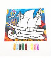 Набор для детского творчества ''раскраска песком''  27,3х21см / дизайны микс.