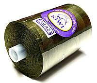 Нить армированная Хаки 28/2 (423тон) полиэфирное волокно 2500м Kiwi