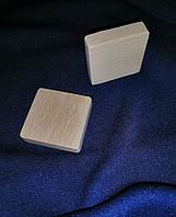 Пластинка основа заготовка квадрат 40 мм Бук