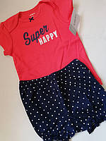 Комплект для малышки на лето Carter's, футболка, шортики, 12М