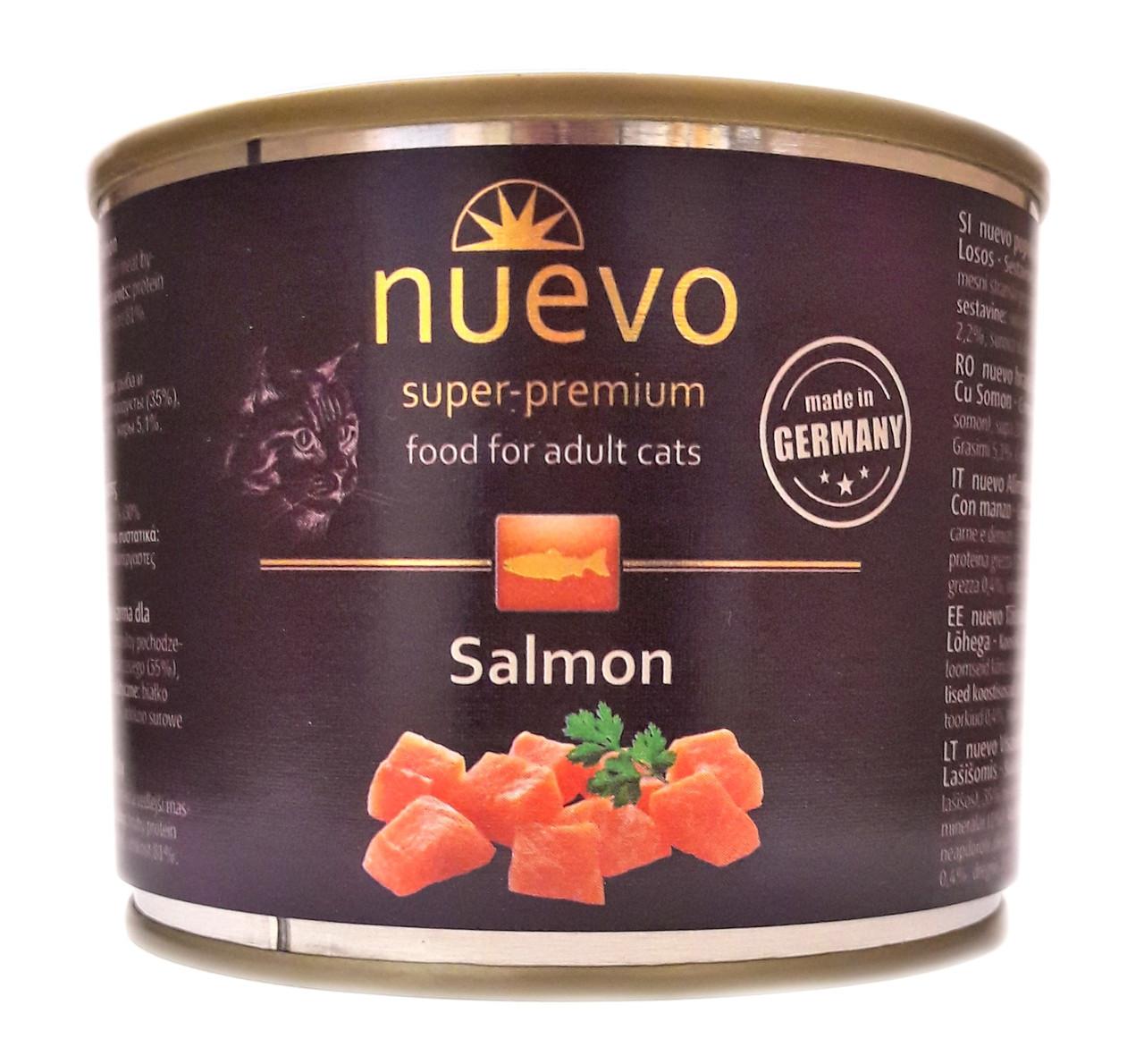 Консервы для кошек Нуэво Nuevo Salmon с лососем 200 г