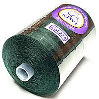 Нить армированная Темно зеленая 28/2 (224тон) полиэфирное волокно 2500м Kiwi