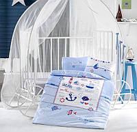 Детское постельное белье в кроватку Clasy™ Sailing Fish 100x150см, фото 1