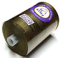 Нить армированная Темно бежевая 28/2 (394тон) полиэфирное волокно 2500м Kiwi