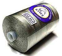 Нить армированная Светло серая 28/2 (367тон) полиэфирное волокно 2500м Kiwi