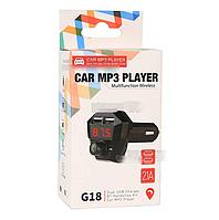 Автомобильный FM-трансмиттер G18 (2USB, 2.1A, MP3 Player), чёрный, фото 1