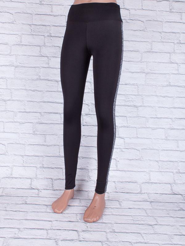 Лосини, Легінси жіночі з сірими смугами чорні