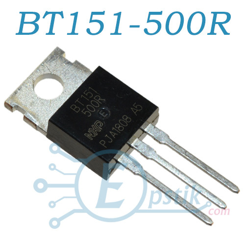 BT151-500R, тиристор 500В 12А, TO220