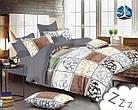 Комплект постельного белья Микроволокно HXDD-760 M&M 1098 Бежевый, Коричневый, Серый, фото 2