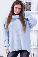 Женский свитер однотонный голубой 60682