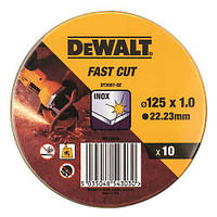 Набор кругов отрезных 10шт DeWALT DT3507