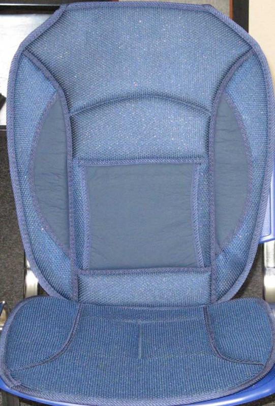 Накидка на сидение 12527 BL  дерм.+сетка синяя