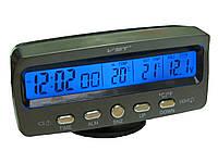 Часы 7045V +термометр внут/наруж/подсветк/вольтметр