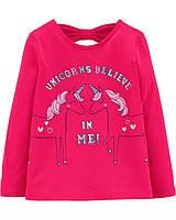 Замечательный детский топ с открытой спинкой Единороги Картерс для девочки