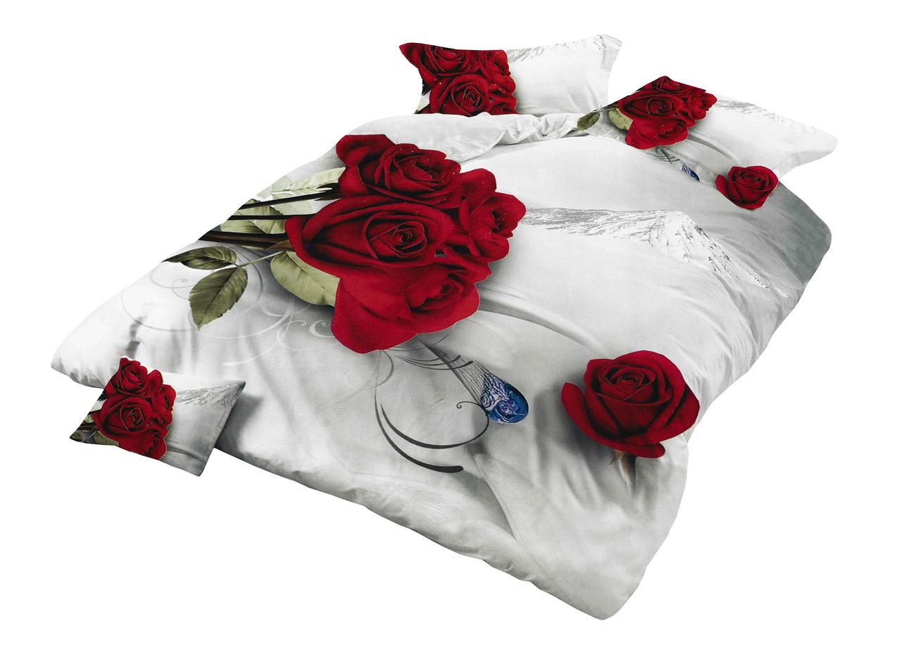 Комплект постельного белья Микроволокно HXDD-767 M&M 2354 Кремовый, Красный