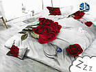 Комплект постельного белья Микроволокно HXDD-767 M&M 2354 Кремовый, Красный, фото 2