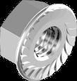 Гайка М12 фл.6, цинк белый, зубчастая DIN6923, МЕТАЛВИС [6L20000006L1206020]