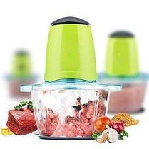 Электрический блендер, измельчитель с двухъярусным лезвием Молния Vegetable Mixer, фото 3