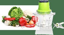 Электрический блендер, измельчитель с двухъярусным лезвием Молния Vegetable Mixer, фото 2