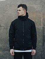 Мужская весенняя куртка чёрная Staff dabl black