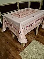 Скатерть(клеенка)   для стола на тканевой основе с люриксом 120*150 см