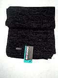 Однотонный вязаный мужской шарф цвет бордовый 182Х24, фото 5
