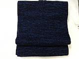 Однотонный вязаный мужской шарф цвет бордовый 182Х24, фото 7