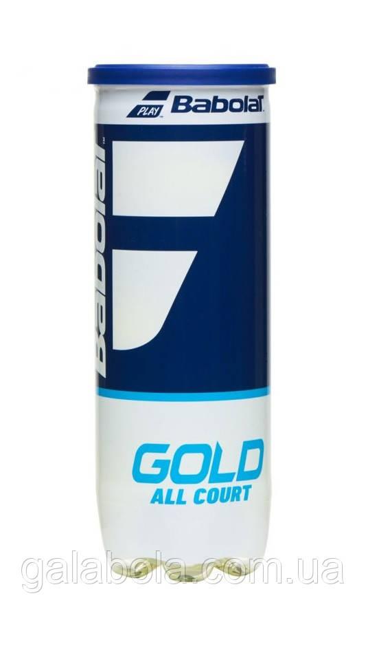 Мячи теннисные Babolat Gold All Court X3 501086/113 (3 шт.)