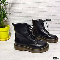 Женские ботинки на шнурке из натуральной кожи, фото 1