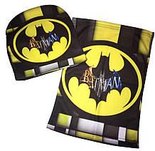 Комплект шапка и бафф Бетмен Batman