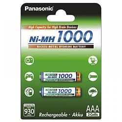 Аккумулятор Panasonic High Capacity AAA 1000 mAh 2BP NI-MH 1000BK-4HGAE/2BE