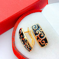 Серьги Эллика (медицинское золото) (6934)