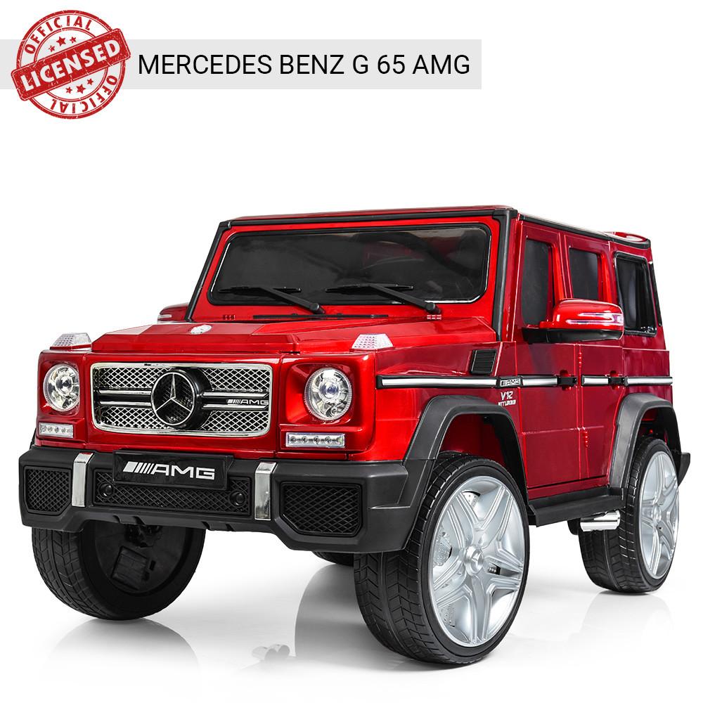 Детский электромобиль Mercedes Benz M 3567EBLRS-3 красный автопокраска