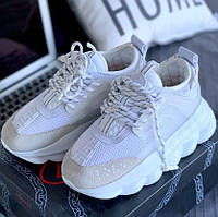 Кроссовки Versace Chain Reaction Sneakers White 1в1 Как Оригинал! ТОП (ААА+)