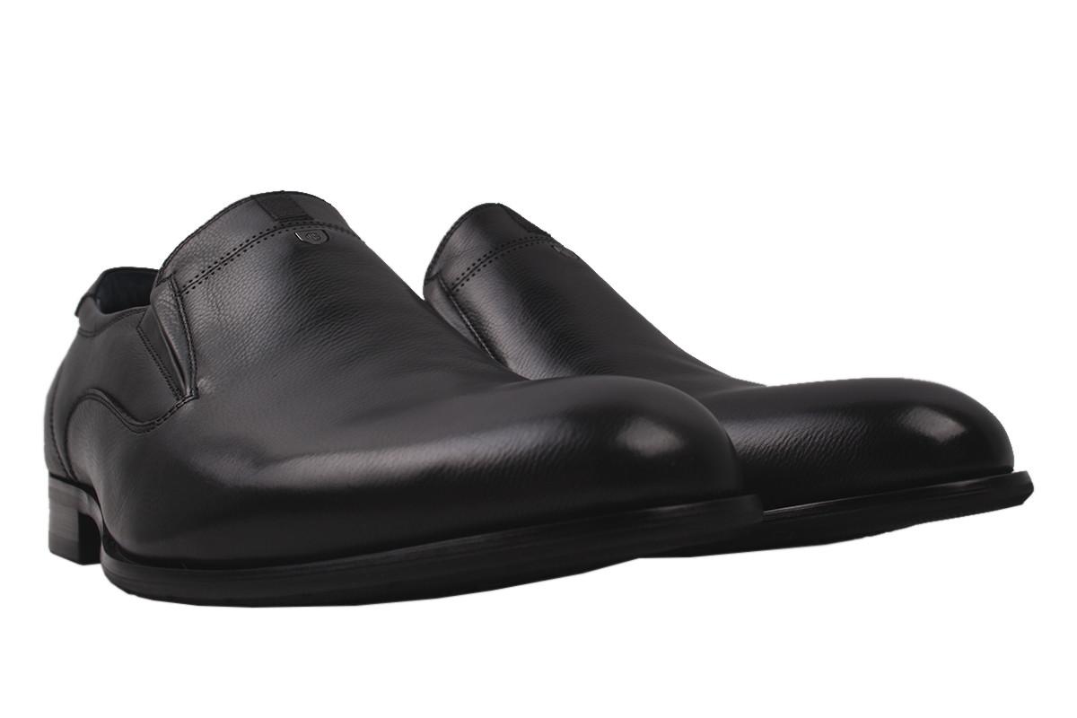 Туфли мужские Brooman натуральная кожа, цвет черный, размер 40-44