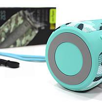 Колонка ZEALOT S32 Blue Camouflage блютуз беспроводной динамик 5 Вт громкая связь Металл FM radio, фото 3