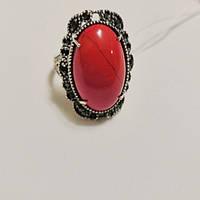 Кольцо серебряное с яшмой и циркониями Луиза, фото 1