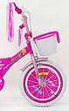 Дитячий двоколісний велосипед для дівчинки з кошиком BEAUTY 19ВВ01-18 рожевий, фото 5