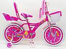 Дитячий двоколісний велосипед для дівчинки з кошиком BEAUTY 19ВВ01-18 рожевий, фото 8