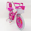 Дитячий двоколісний велосипед для дівчинки з кошиком BEAUTY 19ВВ01-18 рожевий, фото 2