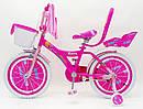 Дитячий двоколісний велосипед для дівчинки з кошиком BEAUTY 19ВВ01-18 рожевий, фото 9