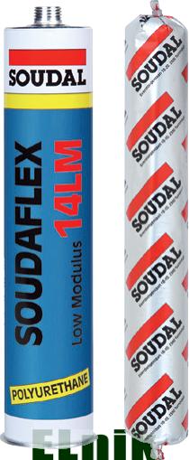 Герметик полиуретановый SOUDAFLEX 14LM белый 600мл., SOUDAL [000020000000070601]