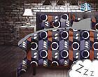 Комплект постельного белья Микроволокно HXDD-774 M&M 4044 Коричневый, Фиолетовый, фото 2
