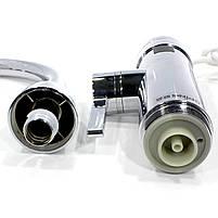 Кран-водонагреватель Oping OP-L11 Silver для быстрого нагрева воды с дисплеем нержавеющая сталь 3 кВт, фото 4