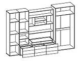Стенка гостиная «Гламур» Мебель-Сервис, фото 4