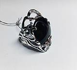 Кругле срібне кільце з обсидіаном Ромилда, фото 4