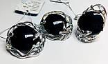 Круглый набор в серебре с обсидианом Ромилда, фото 3