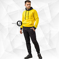 Мужской зимний спортивный костюм - желто-черный