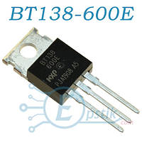 BT138-600E, симистор 600В, 12А, TO220